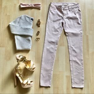 Refuge skinny jeans jeggings low-rise light pink 2